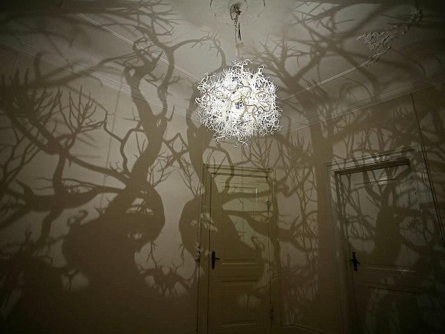 Forms in Nature Vine Light Sculpture