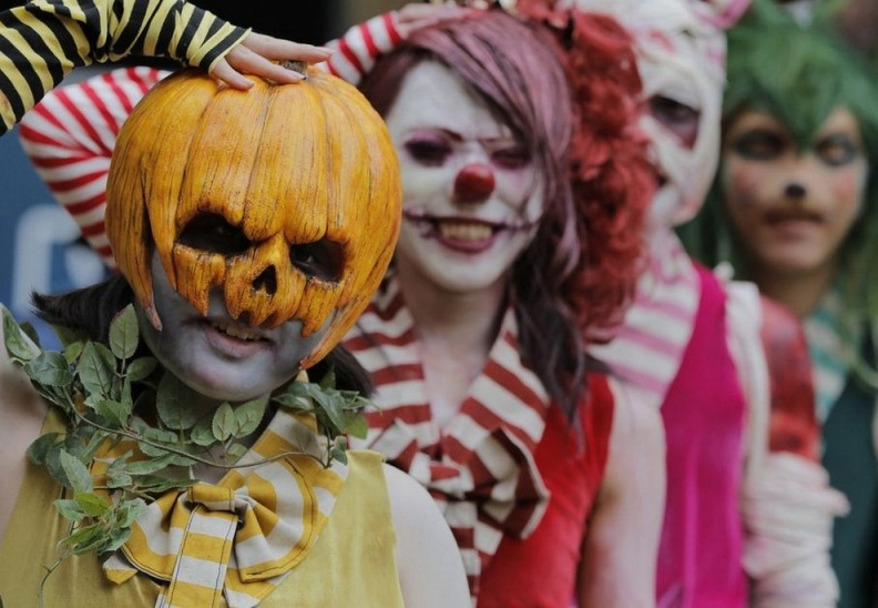 Halloween in Tokyo, 2012 - Participants march in Tokyo, Japan.  AP Photo by Itsuo Inouye via BigPicture.SI