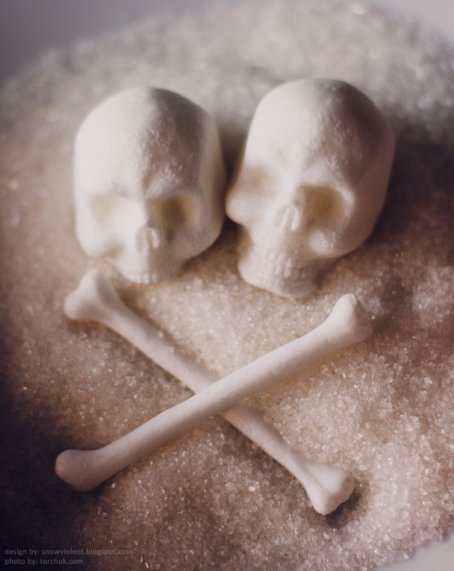 Sugar Skulls by Snow Violent via Haute Macabre