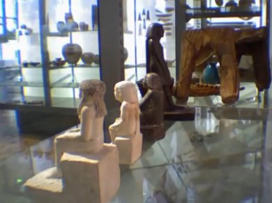 NEBSENU STATUE Egyptian Artifact Turns on its own