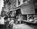 Workers dig in Delancy Street on New York's Lower East Side in this photo dated July 29, 1908.