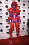 2010 Heidi Klum Halloween Red and Purple Alien