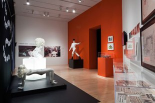 Clockwork Orange Room at LACMA Kubrick Exhibit Photo by Yosi Pozeilov LACMA