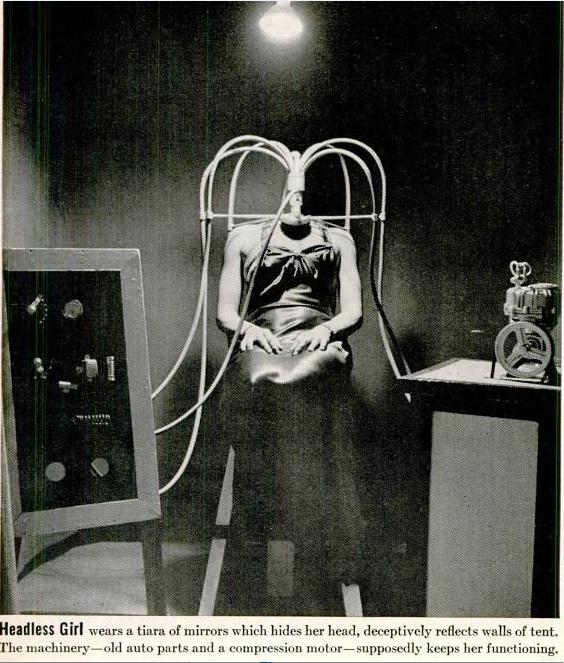 Headless Girl Illusion 1930's