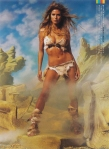 Heidi Klum as Raquel Welch GQ 2002 Iconic Photoshoot by Mark Seliger