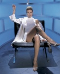 Heidi Klum as Sharon Stone in Basic Instinct GQ 2002 Iconic Photoshoot by Mark Seliger