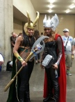 Lady Thor and Loki Cosplay at 2013 SDCC via Pajiba