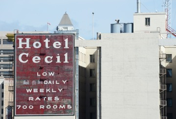 Photo of the Cecil Hotel Water Tanks by Robyn Beck AFP Getty Images