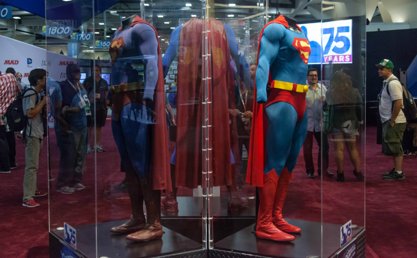 Superman Suits at SDCC 2013 photographed by Seth Rosenblatt for CNET