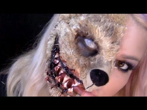 If You Go Down In The Woods Today Evil Teddy Bear Makeup Tutorial
