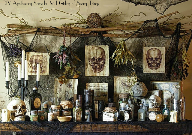 DIY Apothecary Scene by MJ Girling of Seeing Things