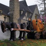 Grandin Road Inflatable Grim Reaper and Coach