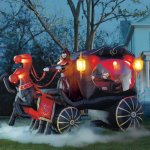 Grandin Road Inflatable Hearse Carriage