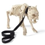 Grandin Road Skeleton Hell Hound on Leash