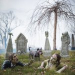 Grandin Road Zombie Graveyard