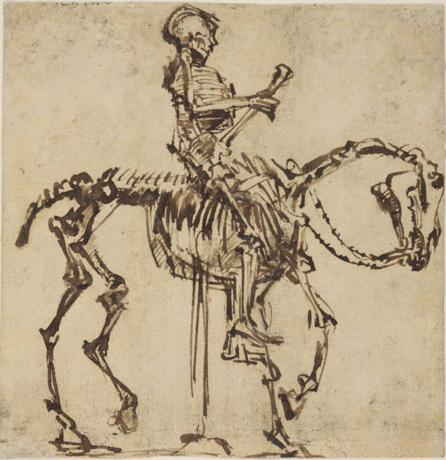 Rembrandt - The Skeleton Rider