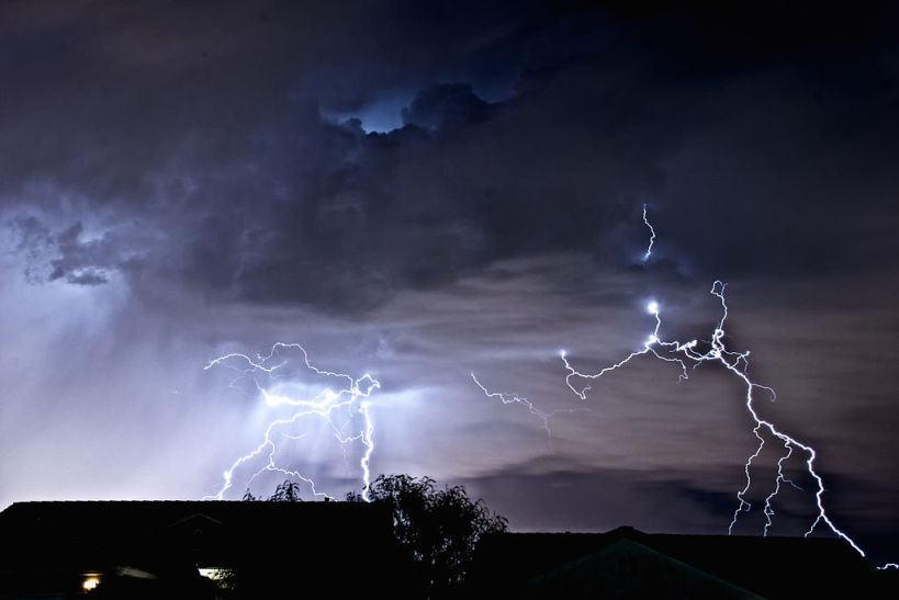 Thomas Dwyer photograph of lightening over Henderson, Nevada, April 2011 via WikiSource