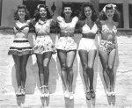 tiki inspired vintage bathing suit via ohsolovelyvintage
