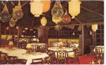 Trader Vic's Bel Air East, St Louis vintage postcard via tikiroom