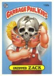 Unzipped Zack Garbage Pail Kids Original Series 2 October 1985