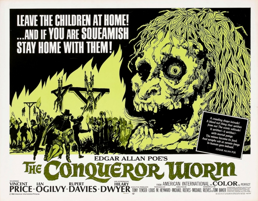 Vintage Movie Poster - The Conqueror Worm (aka Witchfinder General) with Vincent Price