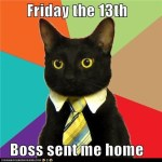 Business Cat Happy Friday the 13th