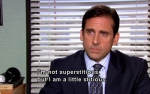 I'm Not Superstitious Office Quote