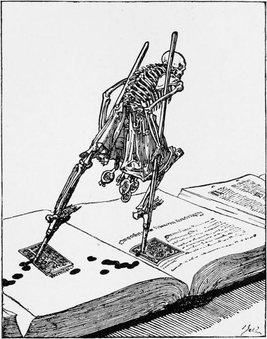 Joseph Sattler, in Ein moderner Totentanz illustration of the Dance of Death, Berlin, 1912