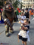 bioshock cosplay big daddy and little sisters