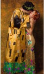 Cosplayers Mai and Bri's Halloween 2012 Costume Gustav Klimt's painting 'The Kiss'