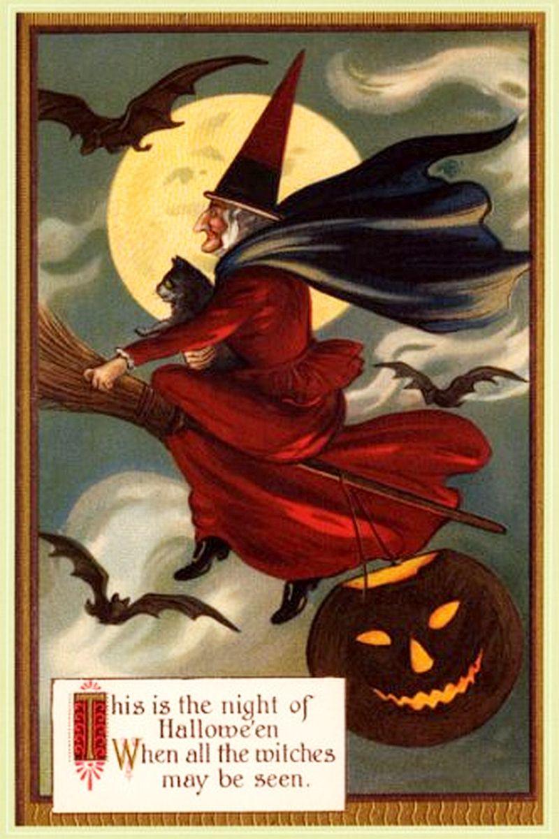 ... 800 × 1201 in Hallowe'en Greetings: 77 Vintage Halloween Postcards · ‹