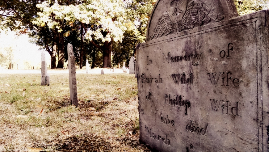 Example of Tombstone Weathering, late 1700's graveyard, Central Burying Ground cemetery, Boston, MA (13) Photographed by Eva Halloween