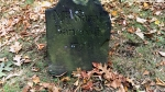 Example of Tombstone Weathering, late 1700's graveyard, Central Burying Ground cemetery, Boston, MA (3) Photographed by Eva Halloween