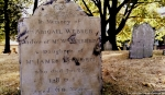 Example of Tombstone Weathering, late 1700's graveyard, Central Burying Ground cemetery, Boston, MA. Photographed by Eva Halloween. (2)