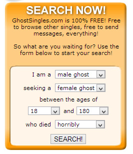 GhostSingles.com - The Best Dating Site for Dead Singles