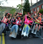 Group Halloween Costume Roller Coaster via Imagur