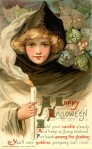 Halloween postcard by samuel l schmucker witch goblins