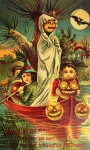 Spooky Vintage Halloween Postcard via Vintage Everyday
