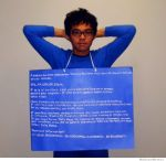 Windows Error Message Blue Screen of Death Halloween Costume via WeKnowMemes