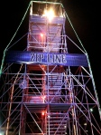 Zipline at Dark Harbor at the Haunted Queen Mary