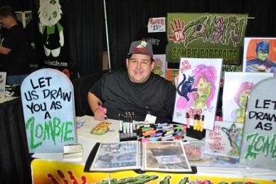 Zombie Portraits DKZombfy Vendor Walker Stalker Con