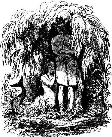 Engraving from Hans Christian Andersen's The Little Mermaid