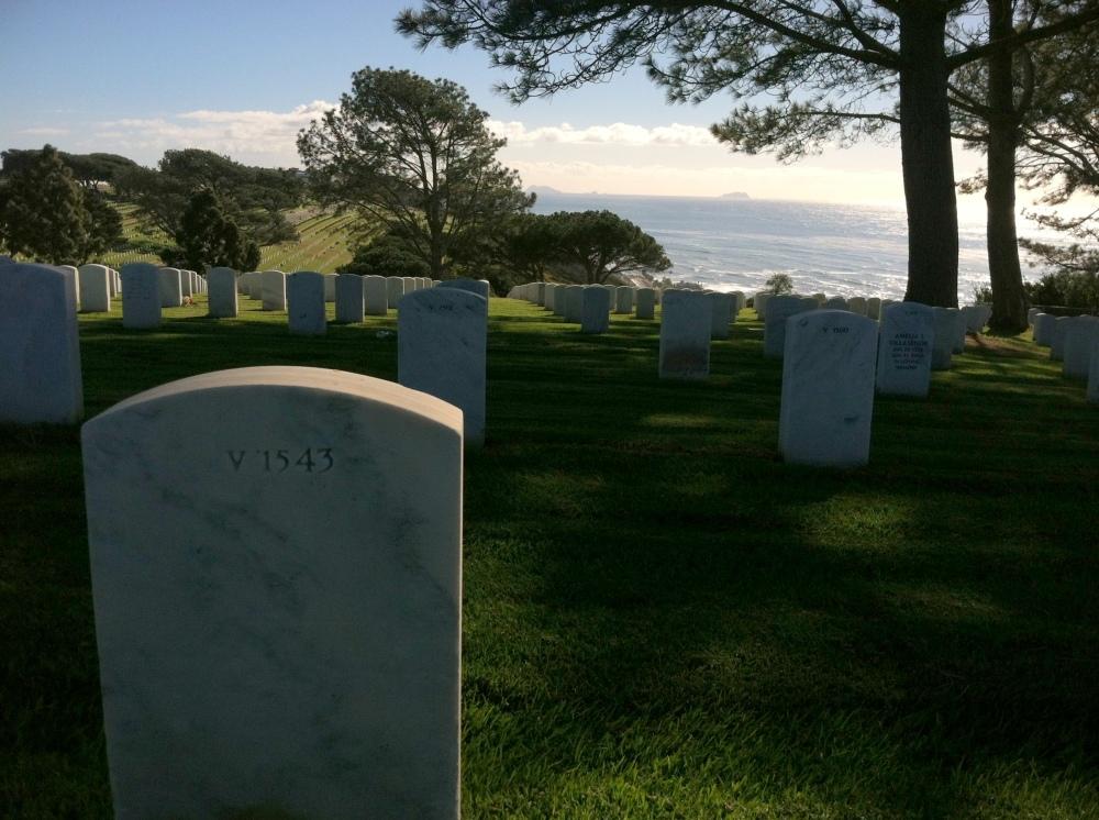 Ft. Rosecrans National Cemetery Graveyard Military Photograph Eva Halloween Pacific Ocean