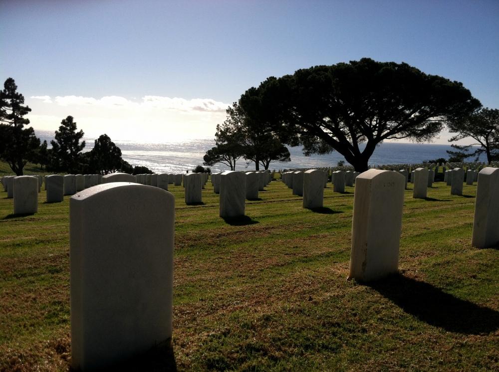 Ft. Rosecrans National Cemetery Graveyard Military Pacific Ocean Photograph Eva Halloween