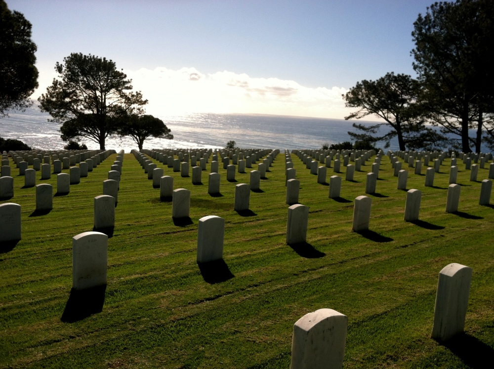 Ft. Rosecrans National Cemetery Graveyard Military Photograph