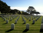 Fort Rosecrans Military Cemetery Looking Southwest Pacific Ocean Mexico Photograph
