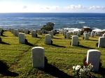 Ft. Rosecrans National Cemetery Graveyard Military Photograph Eva Halloween Pacific Ocean
