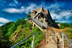 HDR image of Poenari Castle photographed by Pedro Gomes via pmsmgomes_deviantart_com