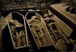 Mummified Remains in The Vault of St Michan's Church Dublin, photographed by Foxhunter22, March 2012, via Wikipedia