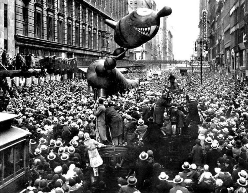 Scary Dragon in 1931 Macy's Thanksgiving Day Parade via NYDailyNews
